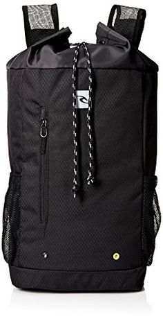 Rip Curl Mens Beach Burrito Solid Backpack Black -- Visit the image link more details.
