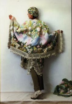 Irish crochet &: Вышивка на трикотаже от Надежды Вороновой