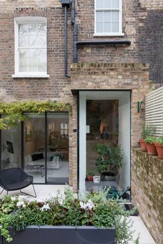 Ideas Apartment Patio Privacy Home Decor For 2019 House Extension Design, Glass Extension, Rear Extension, House Design, Extension Ideas, London Architecture, Architecture Details, Kitchen Diner Extension, Victorian Terrace House