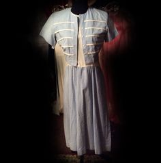 Blue and White light cotton Day Dress with by LisaLaRueRetroActive, $24.95