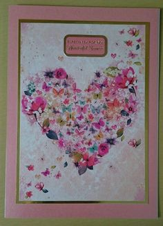Handmade 5 x 7 Greeting Card Fiancee by BavsCrafts on Etsy Fiancee, Cellophane Bags, Greeting Cards Handmade, Cardmaking, Envelope, Pearl, Luxury, Etsy, Cellophane Gift Bags