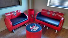 55-Gallon Steel Drums Upcycled Into Furniture • Recyclart