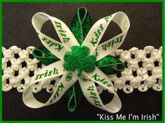 St Patricks Day Baby Headband by DelightfulGoods on Etsy, $7.00