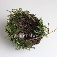 Small High Quality Artificial Bird's Nest Set of 1 (Not Including Birds) - USD $3.99 ! HOT Product! A hot product at an incredible low price is now on sale! Come check it out along with other items like this. Get great discounts, earn Rewards and much more each time you shop with us!