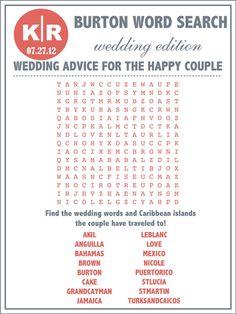 Custom Designed #Wedding Day Word Search by WeddingsByJamie on Etsy, $20.00