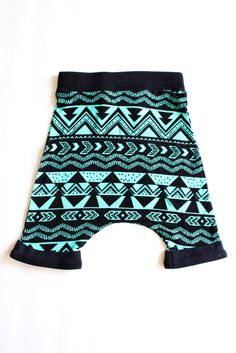 Emerald and Arrows Harem Shorts