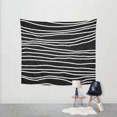 Nero appeso arazzo  parete arazzo  strisce bianche e nere