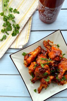 I have three words for these Honey Sriracha Chicken Wings: Finger. Lickin'. Good. That's literally all I have to say. Just make them and you'll know what I mean.