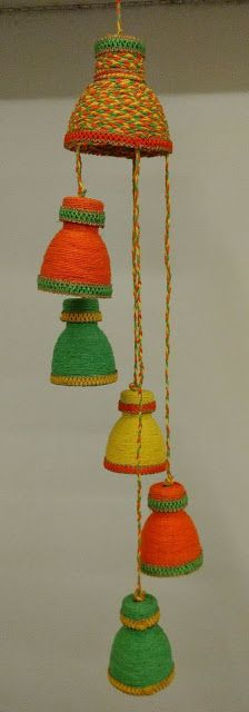 How to make decorative hanging from bottle - Simple Craft Ideas Reuse Plastic Bottles, Plastic Bottle Crafts, Diy Bottle, Diy Crafts Hacks, Diy Arts And Crafts, Diwali Craft, Crazy Patchwork, Art N Craft, Recycled Crafts