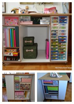 Sewing room cutting and storage table