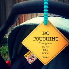 I needed this when my daughter was a baby! #NoTouching #Germs