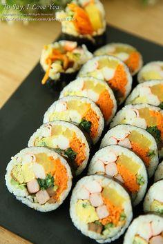 김밥 황금레시피 자세히 담아봤어요 : 네이버 블로그 Gimbap, Korean Food, Sushi, Beverages, Diet, Cooking, Ethnic Recipes, South Korea, Food Food