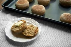 Whole Wheat English Muffins | Double Thyme