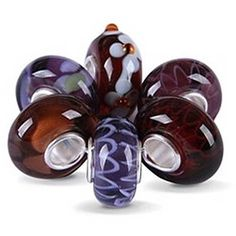 Amethyst Color Murano Glass Bead Bundle Sets Sterling Fits Pandora ($20) ❤ liked on Polyvore featuring jewelry, pendants, beads & charms glass beads, purple, amethyst charm, daisy jewelry, murano glass charms, animal charms and beading charms