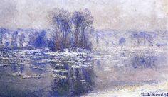 Floes at Bennecourt / Claude Monet - 1893