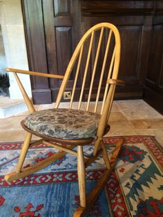 Antique Ercol Windsor Quaker Style Rocking by SplendidTrading