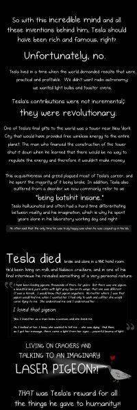 Why Nikola Tesla was the greatest geek who ever lived #infografía