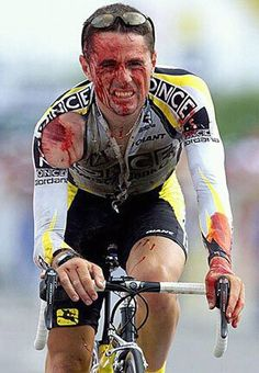 Professional cycling is the hardest, most difficult sport in the world. Doesn't matter if you crash over a cliff. If you can still petal, you can still finish the race. Cycling Art, Cycling Jerseys, Cycling Bikes, Cycling Motivation, Sport Inspiration, Bicycle Race, Bike Rider, Road Bikes, Tandem