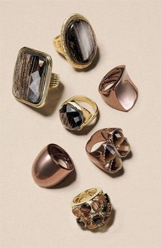 Cool stone rings.