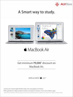 Save on a new Mac and iPad for your studies. #apple #applediscount #alvstore