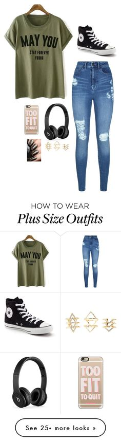 """Untitled #2984"" by if-i-were-famous1 on Polyvore featuring Lipsy, Converse, Beats by Dr. Dre, Casetify and Charlotte Russe"