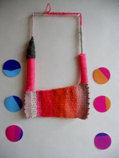 KIKA  hand woven statement necklace in bright by MerakibyStevie, $85.00