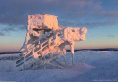 Sunrise on the top of the Kaunispää (01) | saariselka.com, more about Saariselkä www.saariselka.com #saariselka, #saariselkabooking #astueramaahan #stepintothewilderness #saariselankeskusvaraamo