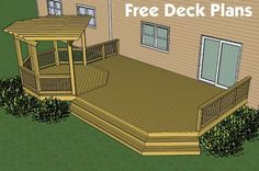 Deck Designs And Plans free plans builders designs composite decking photos Backyard Patio, Backyard Landscaping, Backyard Ideas, Backyard Deck Designs, Small Backyard Decks, Patio Ideas, Landscaping Ideas, Small Decks, Screened Patio