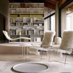 Just a touch of yellow...Featuring the JJ Armchairs from B&B Italia #bebitalia #interiordesign #interiordecoration