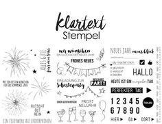 Klartext Stempel für Silvester und Neujahr, gefunden auf www.danipeuss.de Scrapbooking