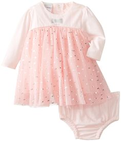 ABSORBA Baby-Girls Newborn G Dress with Panty, Pink, 3-6 Months