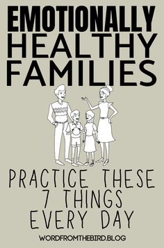 Emotionally Healthy Families do These 7 Things Every Day- Word From The Bird Parenting advice for raising confident and respectful kids Parenting Advice, Kids And Parenting, Natural Parenting, Family Practice, Marriage And Family, Read Later, Family Kids, 3 Kids, Raising Kids