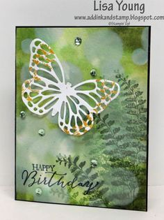 Found this gorgeous card on Splitcoast Stampers - so so pretty!! Butterfly Bokeh by Lisa Young