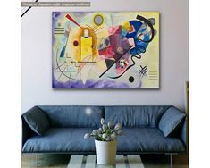 Yellow red blue, W. Kandinsky, αντίγραφο - αναπαραγωγή πινακα σε καμβά,19,90 €,https://www.stickit.gr/index.php?id_product=20488&controller=product, Δείτε το !