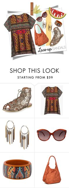 """""""...and the living is easy...."""" by collagette ❤ liked on Polyvore featuring Joie, Valentino, Etro, Alice + Olivia, contestentry, laceupsandals and PVStyleInsiderContest"""