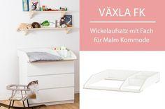 Mit dem Wickelaufsatz VÄXLA FK machst du aus deiner Malm Kommode von Ikea im Handumdrehen eine vollwertige und preiswerte Wickelkommode. Der Wickeltischaufsatz lässt sich leicht montieren und genau...