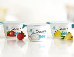Elli Quark. ZERO percent fat! Traditional yogurt a little heavy on the calories and not enough on the protein? Elli has over double the amount of protein! no added sugar, is gluten free, GMO free, and vegetarian (no gelatin added) cream cheese can be substituted for Elli Quark on a 1:1 ratio. flavors: red velvet, pineapple, strawberry, lemon, and plain