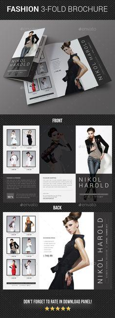 3 in 1 Fashion 3-Fold Brochure Bundle 03 In fashion, Fold and 3( - fashion design brochure template