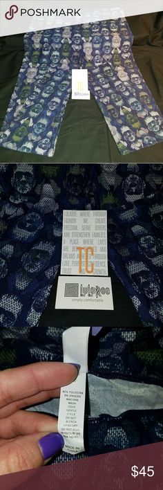 NET LuLaRoe 2017 Halloween Frankenstein Leggings Brand new in package (removed for photos only) 2017 LuLaRoe Halloween Leggings - AWESOME HTF Frankenstein Print  TC - Tall and Curvy  (fits Women's size 12 - 22)  Absolutely AMAZING Halloween Frankenstein print on a gorgeous deep navy background! LuLaRoe Pants Leggings