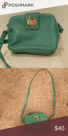 Kate spade purse Tealish-green crossbody or shoulger strap bag. Used a few times. Good condition 🙂 kate spade Bags Crossbody Bags