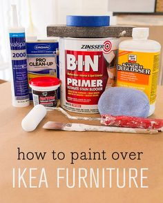 Might need this if the Ikea plan works. Tips & tricks to paint over laminate/foil covered IKEA Furniture Paint Furniture, Furniture Projects, Furniture Makeover, Home Projects, Plywood Furniture, Laminate Furniture, Furniture Dolly, Repurposed Furniture, Furniture Stores