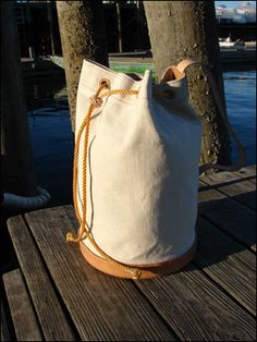 Sailors' Sea Bags made in the USA - wrenhouse.com - These environmentally friendly sailors' bags are offered in a limited edition. Each bag is numbered. $850.00