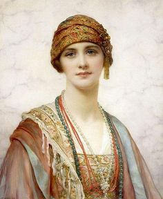 William Clarke Wontner :The Turban    nice outfit
