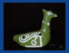 Instrumentos musicales - Ocarina de cerámica en forma de llama - hecho a mano por Bet7 en DaWanda