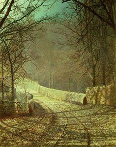 John Atkinson Grimshaw - Sunshine through winter trees