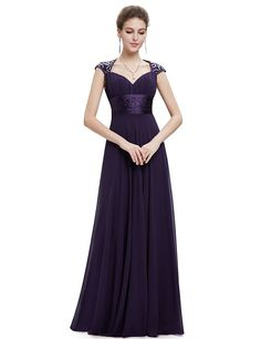 Ever Pretty Chiffon Sexy V-neck Ruched Empire Line Evening Dress 09672 >>> Awesome product. Click the image : Bridesmaid dresses