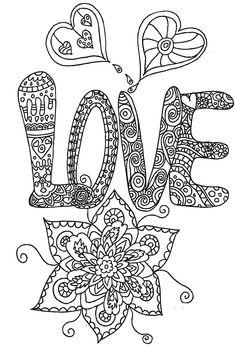Heart Flower Heart Abstract Doodle Zentangle ZenDoodle Paisley Coloring pages colouring adult detailed advanced printable Kleuren voor volwassenen coloriage pour adulte anti-stress kleurplaat voor volwassenen coloriage pour adulte love
