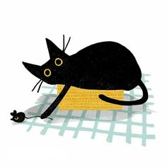 Russian Blue Cats Kittens Black cat and Mouse. Taking a cat nap. Mouse Illustration, Black Cat Illustration, Black Cat Tattoos, Guache, Russian Blue, Blue Cats, Art Graphique, Cat Drawing, Crazy Cats