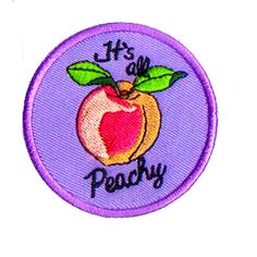 Its All Peachy Embroidered Iron-On Patch Patch Game by TOTALPANSY