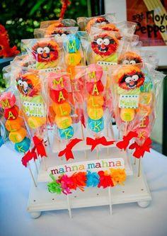 Animal Marshmallow Pops